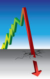 Rise and fall graph royalty free illustration