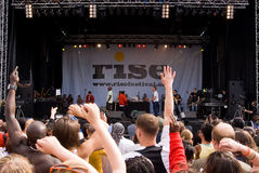 Rise Festival, London. July 2008. royalty free stock image