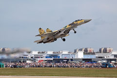 Rise of the fighter Su-35 stock image