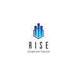 Rise Logo Template. Clean background for every presentation, high resolution, perfect detail work. Logo Template, can be customized in the EPS file. free font Royalty Free Stock Photography