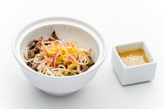 Rise noodles and beef salad Royalty Free Stock Images