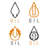 rise of oil prices vector logo set Stock Images