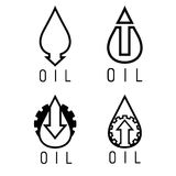 rise of oil prices vector logo set Royalty Free Stock Photography