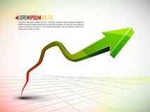 Rise in profits or earnings. 3d graph showing rise in profits or earnings /  illustration Royalty Free Stock Images
