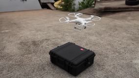 Rise quadrocopter stock footage