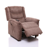 Rise and recline chair, partially reclined. Stock Image