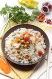 Rise salad with vegetables Stock Images