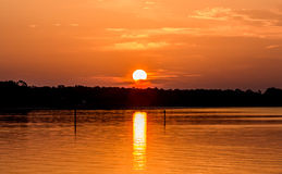 Sunrise Over Choctawhatchee Bay, Florida Royalty Free Stock Photography