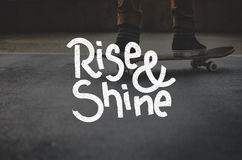 Rise Shine Development Improvement Success Concept Royalty Free Stock Photos