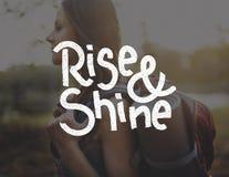 Rise Shine Development Improvement Success Concept Stock Photos