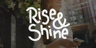 Rise Shine Development Improvement Success Concept Stock Photography