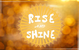 Rise and shine Stock Image