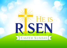 He is risen card Royalty Free Stock Photography