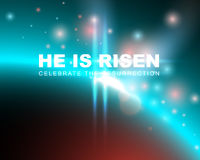 He is risen. Celebrate the resurrection. Easter card with space background. Vector illustration Stock Photo