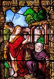 Risen Christ and Mary Magdalene stock photography