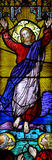 Risen christ in stained glass Royalty Free Stock Images
