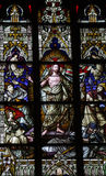 Risen Christ in stained glass Royalty Free Stock Photos
