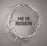 He is Risen Crown of Thorns 3D Rendering Royalty Free Stock Image
