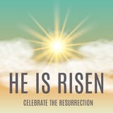 He is risen. Easter background. Stock Image
