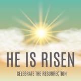 He is risen. Easter background. Vector illustration Stock Image
