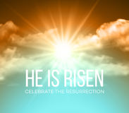 He is risen. Easter background. Vector illustration Stock Photos