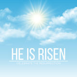 He is risen. Easter background. Vector illustration Royalty Free Stock Photo