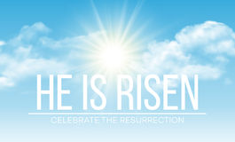 He is risen. Easter background. Vector illustration Stock Photography