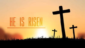 He is risen easter vector Stock Photo
