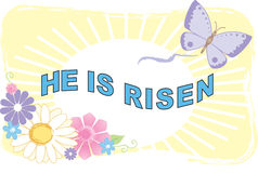He Is Risen Illustration Stock Photos