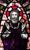 Risen Jesus Christ  in stained glass Royalty Free Stock Photo