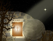 He Is Risen Print - Easter Royalty Free Stock Photography