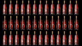 Riserva del contrassegno dell'oro di Johnnie Walker Bottiglia animata illustrazione di stock