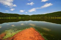 Riserva del cratere della meteorite di Tswaing Immagine Stock