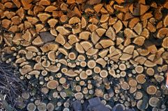 Riserva della legna da ardere Fotografie Stock