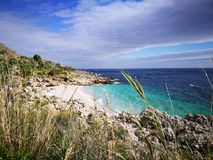 Riserva dello Zingaro forest and marine area protected stock images