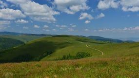 Riserva di plaateau di Sesul Craiului dalla giumenta di Muntele Fotografie Stock