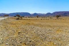 Riserva di Wadi Paran Nature, nel deserto di Negev fotografia stock