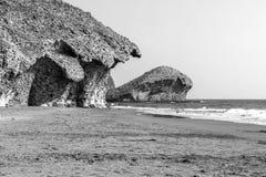 Riserva naturale dell'estremità del ` s di Gata-Nijar, Almeria L'Andalusia, Spagna Immagine Stock Libera da Diritti