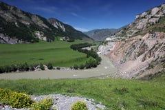 Riserva naturale di Biospheric dello stato di Altai, fiume di Chuya Fotografie Stock