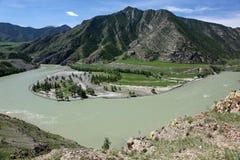 Riserva naturale di Biospheric dello stato di Altai, fiume di Chuya, Russia Immagine Stock Libera da Diritti