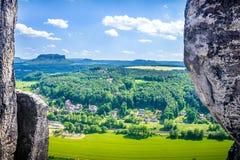 Riserva naturale di Saxon Svizzera Immagini Stock Libere da Diritti