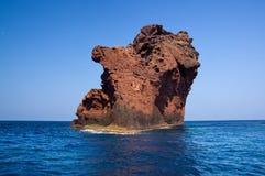 Riserva naturale di Scandola, sito del patrimonio mondiale dell'Unesco, Corsica, franco Immagini Stock Libere da Diritti