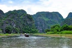 Riserva naturale di Van Long in Ninh Binh, Vietnam Fotografie Stock