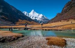 Riserva naturale di Yading, contea Sichuan Cina di Daocheng fotografia stock