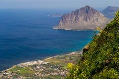 Riserva Naturale Orientata Monte Cofano from Erice near Trapani (Sicily, Italy) Stock Photo
