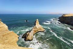 Riserva nazionale di Paracas, Ica Region, costa del Pacifico del Perù Fotografia Stock