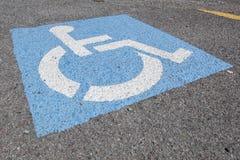 Riservato soltanto agli handicappati Immagini Stock