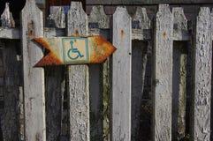 Riservato soltanto agli handicappati Immagine Stock Libera da Diritti