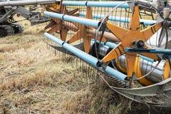 Risfält för skördetröskamaskinplockning Royaltyfri Fotografi