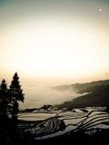 Risfält Yuanyang Kina Arkivbild